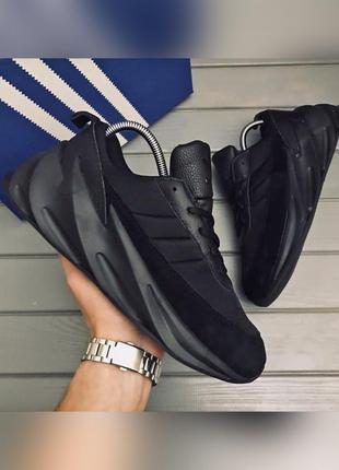 Кроссовки мужские adidas sharks черные / кросівки чоловічі адидас