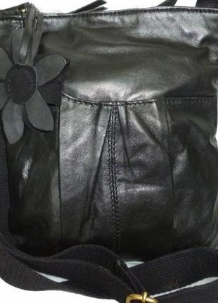 Стильная сумка -планшетка натуральная кожа