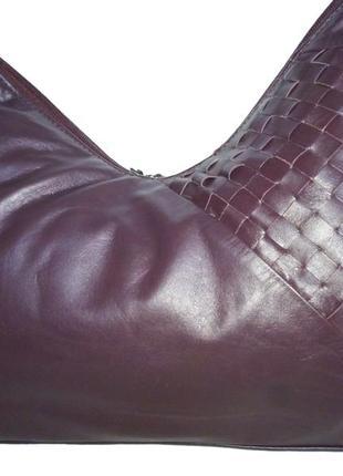 Стильная сумка натуральная кожа george