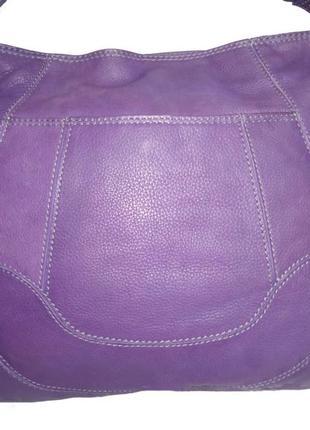 Стильная вместительная сумка натуральная кожа lloud baker