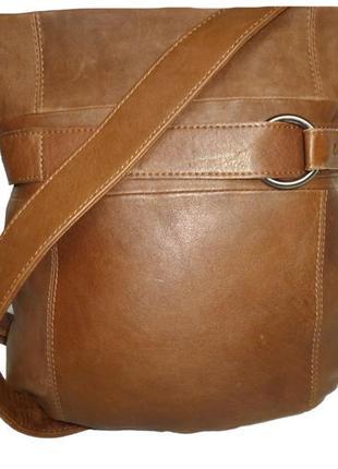 Стильная сумка натуральная кожа  zwei германия