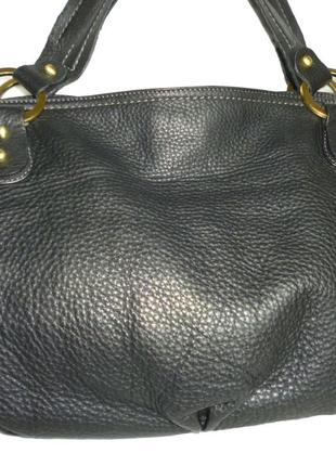 Стильная большая сумка натуральная кожа luca d'altieri