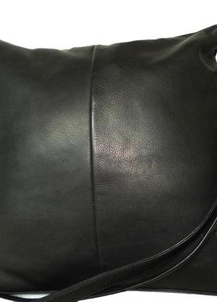 Стильная вместительная сумка-рюкзак натуральная кожа estell