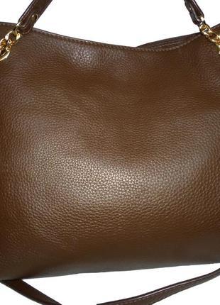 Шикарная большая сумка из натуральной кожи michael kors