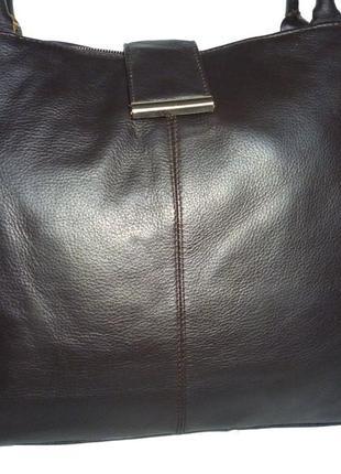 Стильная вместительная сумка натуральная кожа debenhams