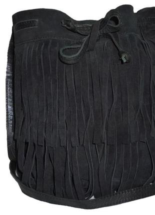 Шикарная вместительная сумка натуральная замшевая кожа mango