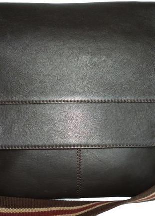 Стильная большая сумка натуральная кожа john rocha для мужчин
