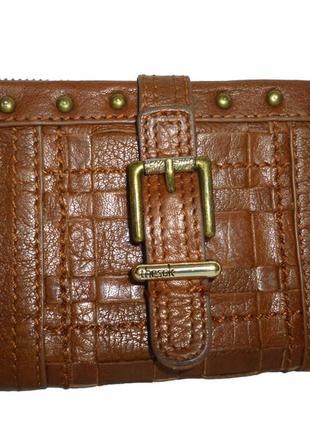 Стильный  кошелек натуральная кожа