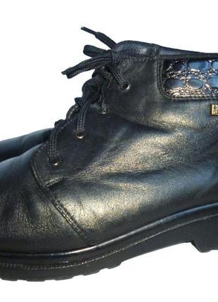 Стильные зимние ботинки натуральная кожа rieker