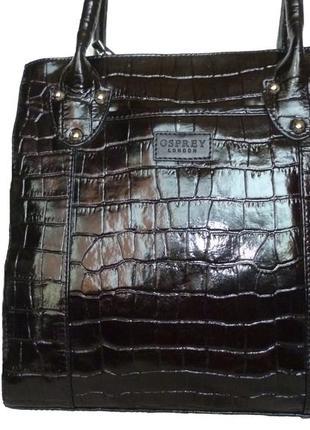 Стильная вместительная сумка натуральная кожа osprey