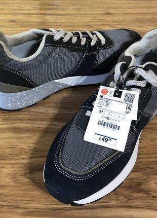ZARA новые стильные мужские кожаные кроссовки