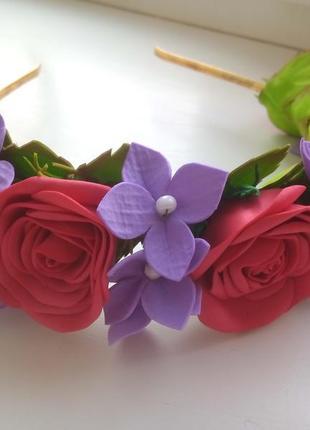 Обруч с цветами