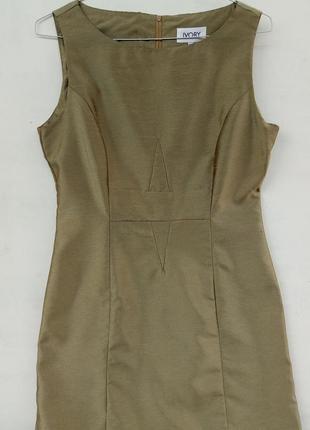 Платье по фигуре цвета хаки ivory р 18