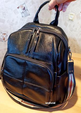 Женская сумка-рюкзак. женский портфель. женская кожаная сумка....