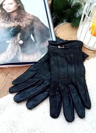 Кожаные перчатки большого размера