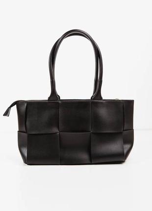 👑 кожаная сумка со стильным плетением