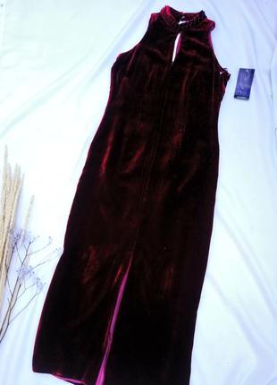 Вечернее платье шелк amarantoр l