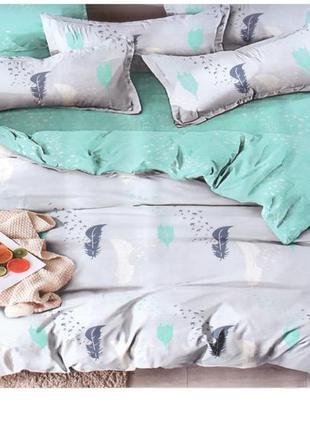 """Комплект постельного белья сатин """"gold"""" (2-х спальный, бирюза/..."""