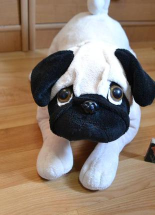 Мягкая игрушка мопс, мягкая игрушка собачка мопс