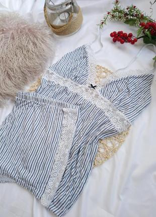Вискозная пижама xl/xxl