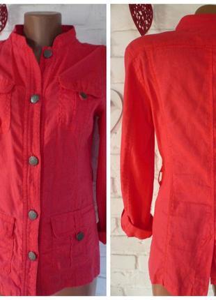 Распродажа элегантный коттоновый  плащ пиджак с эффектным воро...