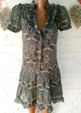 Летнее платье цвета хаки warehouse р 10