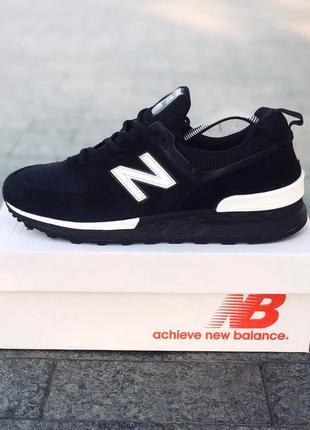 Кроссовки мужские new balance 574 черные / кросівки чоловічі н...