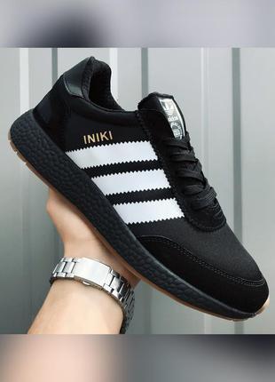 Кроссовки мужские adidas iniki черные / кросівки чоловічі адид...