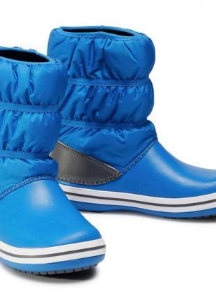 Детские сапоги зима crocs непромокаемые зимние дутики крокс