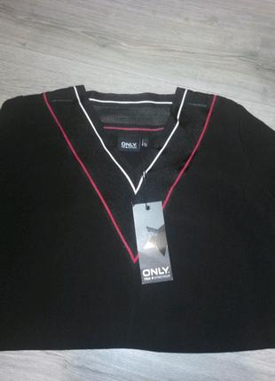 Укорочена блуза класика Only розмір європейський М наш 48-50