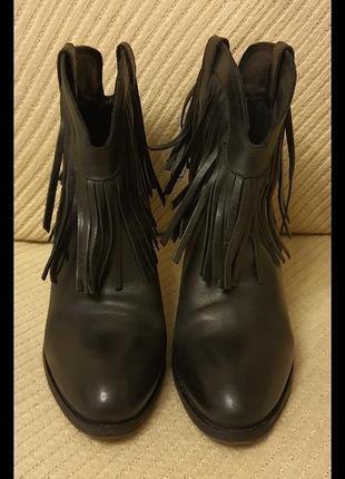 Buffalo, ботинки, черные, кожа, размер 40