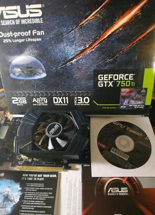 Видеокарта ASUS NVidia GeForce GTX 750 Ti 2Gb DDR5 128bit