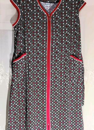Женские Трикотажные халаты батальные  большие размеры