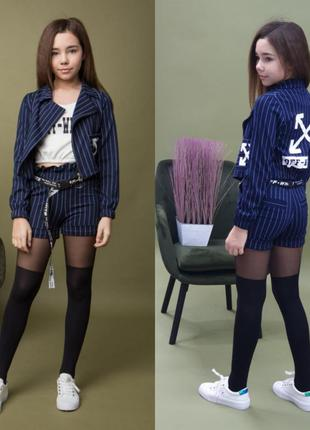 Костюм, пиджак, топ, шорты, костюм, шорти, mf-547/new-shcool/l...