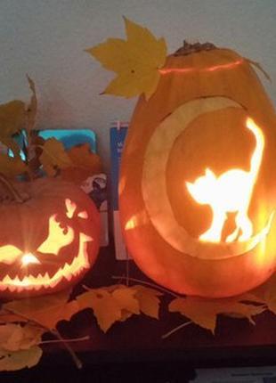 Карвинг резьба по тыкве на Хеллоуин