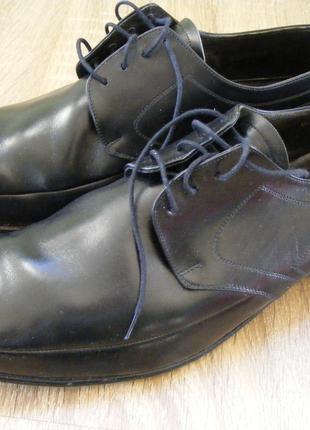 Туфли черные мужские на шнурке