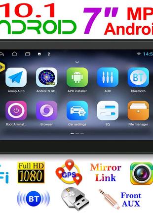 "Автомагнитола 2 din 7"" сенсорная Android 10.1 GPS WiFi FM радио"