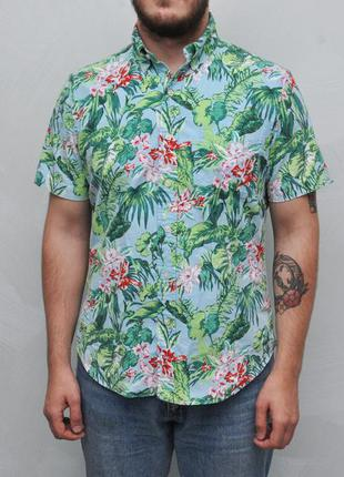 Ralph lauren рубашка гавайка в тропический принт