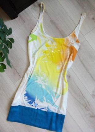 Легкое летнее  платье-майка