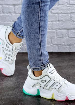 Женские кроссовки белые Ajax