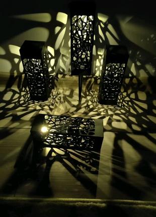 Декоративні садові світильники. Автономні