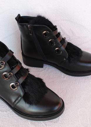 Зимние ботинки 39, 40 размера на низком ходу