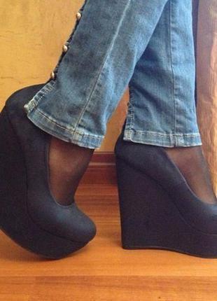 Туфли темно синие