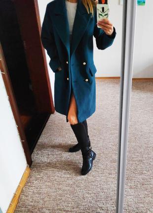 Пальто красивый нефритовый цвет