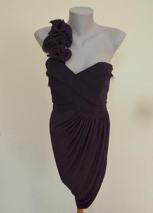 Шикарное английское стильное вечернее платье новое