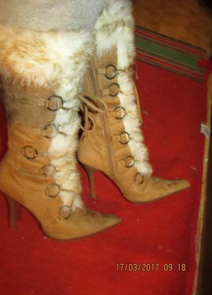Сапоги шнуровка