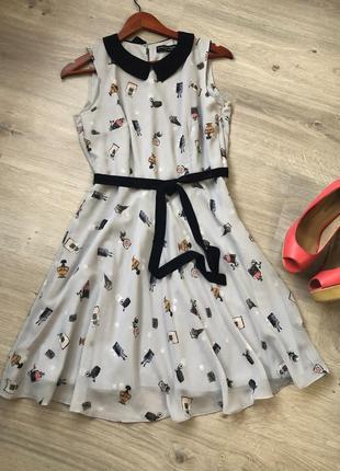 Очень красивое и нежное шифоновое платье, очень красивый принт
