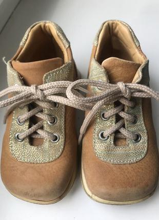 Детские кожаные ортопедические ботинки, стелька 13,5