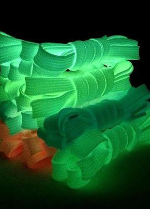 Шнурки рефлективные (светоотражающие), люминесцентные (светящи...