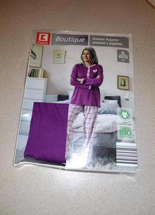 Хлопковая качественная пижама л 44/46 размер boutique esmara. .
